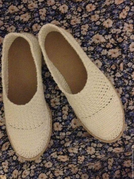 """Обувь ручной работы. Ярмарка Мастеров - ручная работа. Купить Слиперы """"Нежность"""". Handmade. Белый, ручная работа handmade"""