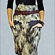"""Юбки ручной работы. Ярмарка Мастеров - ручная работа. Купить Юбка валяная """"Северное сияние"""". Handmade. Фиолетовый, юбка из флиса"""