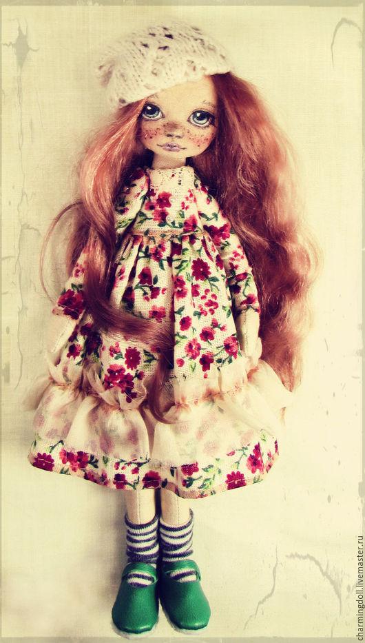 Коллекционные куклы ручной работы. Ярмарка Мастеров - ручная работа. Купить Авторская текстильная кукла. Handmade. Рыжий, кудри, интерьер