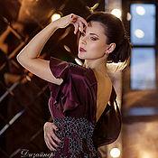 "Одежда handmade. Livemaster - original item ""Ripe Cherry"" lace dress, designer Angelina Gruzdeva. Handmade."
