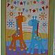 Шитье ручной работы. Ярмарка Мастеров - ручная работа. Купить Ткань панель хлопок США Жирафф. Handmade. Сиреневый, совы