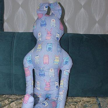 Куклы и игрушки ручной работы. Ярмарка Мастеров - ручная работа Подушка-игрушка Заяц в зайцах. Handmade.
