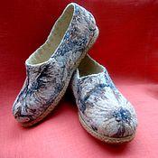 Обувь ручной работы. Ярмарка Мастеров - ручная работа туфельки-тапочки. Handmade.