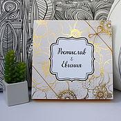 Подарки ручной работы. Ярмарка Мастеров - ручная работа Свадебная коробочка для денег с индивидуальным дизайном. Handmade.