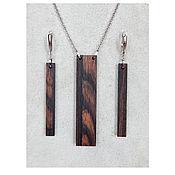 Украшения handmade. Livemaster - original item Set of stylish jewelry from the tree.. Handmade.