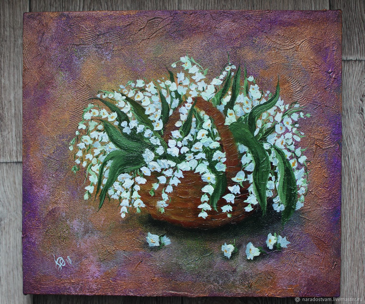 Painting Acrylicoil Lily Of The Valley Lilies Of The Valley Shop