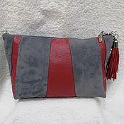 Сумки и аксессуары handmade. Livemaster - original item Crossbody bag gray