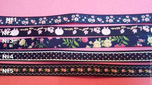 Лента репсовая, Цветная репсовая лента 10 мм, Ярмарка мастеров