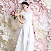 """Платья ручной работы. Ярмарка Мастеров - ручная работа """"Николет"""" - шифоновое свадебное платье. Handmade."""