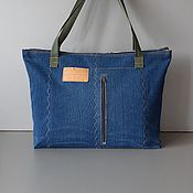 Сумки и аксессуары handmade. Livemaster - original item Tote: Denim Bag August. Handmade.