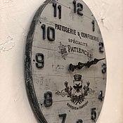 Для дома и интерьера handmade. Livemaster - original item Wall clock large 45 cm. Handmade.