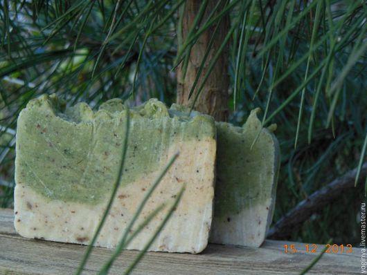 """Мыло ручной работы. Ярмарка Мастеров - ручная работа. Купить Мыло натуральное ручной работы """"Сосновый бор"""". Handmade. травы"""
