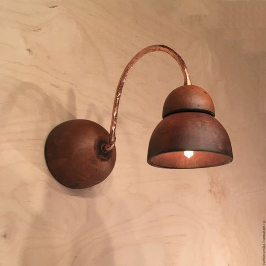 Освещение ручной работы. Ярмарка Мастеров - ручная работа. Купить Настенный керамический светильник «Кривулька». Handmade. Керамический плафон, керамика