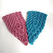 Аксессуары ручной работы. Ярмарка Мастеров - ручная работа Вязаная повязка на голову голубой или розовый. Handmade.