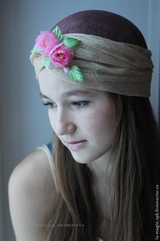 """Шляпы ручной работы. Ярмарка Мастеров - ручная работа. Купить Летняя чалма """"Je reve"""" (Мечтаю...). Handmade. Однотонный"""