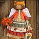 Ароматизированные куклы ручной работы. Рыжая осень. Фея осенних листочков. Ароматизированная кукла. Надежда Першина. Ярмарка Мастеров. Сумочка