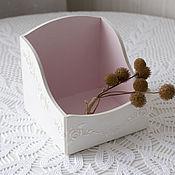 Для дома и интерьера ручной работы. Ярмарка Мастеров - ручная работа короб бело-розовый. Handmade.