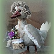 Куклы и игрушки handmade. Livemaster - original item Duck Hilda -flower girl. Handmade.