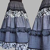 """Одежда ручной работы. Ярмарка Мастеров - ручная работа Юбка в бохо-стиле """"Маренго"""". Handmade."""