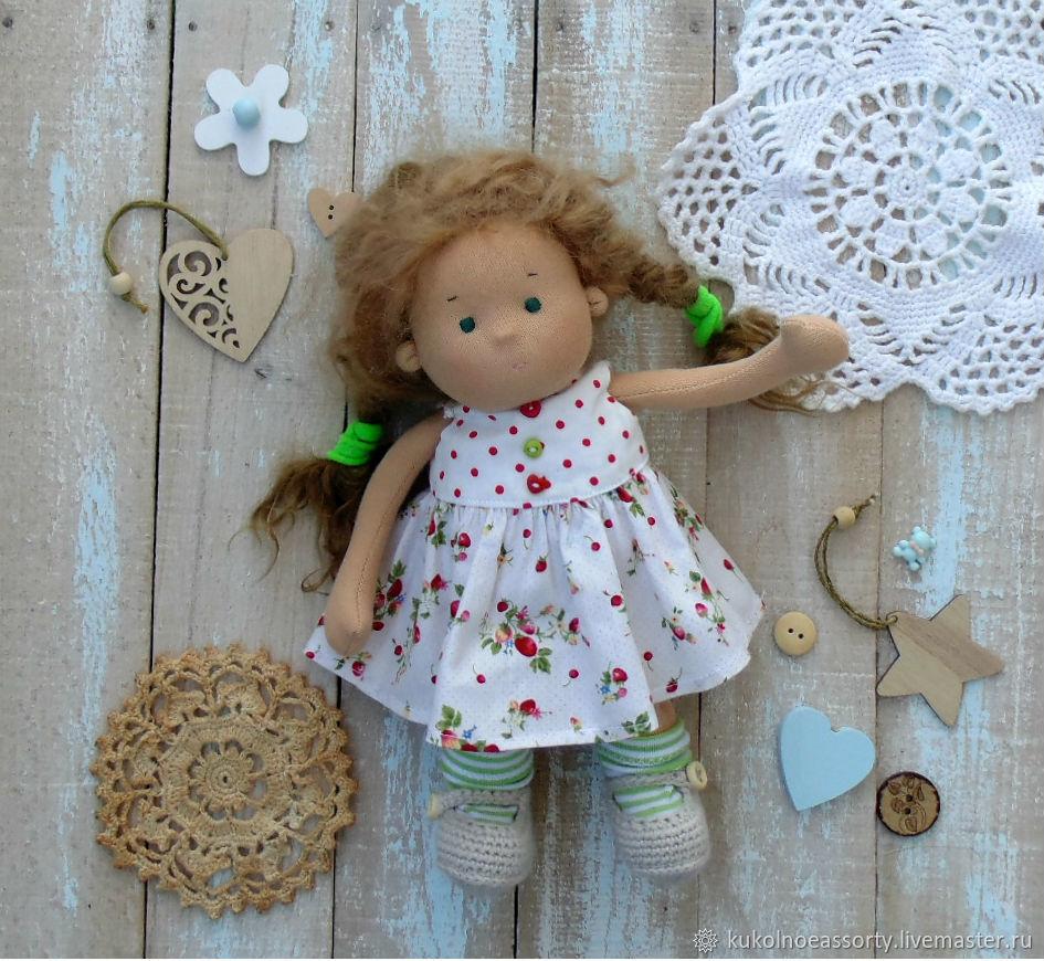 Вальдорфская кукла  Мия 23 см, Вальдорфские куклы и звери, Североуральск,  Фото №1
