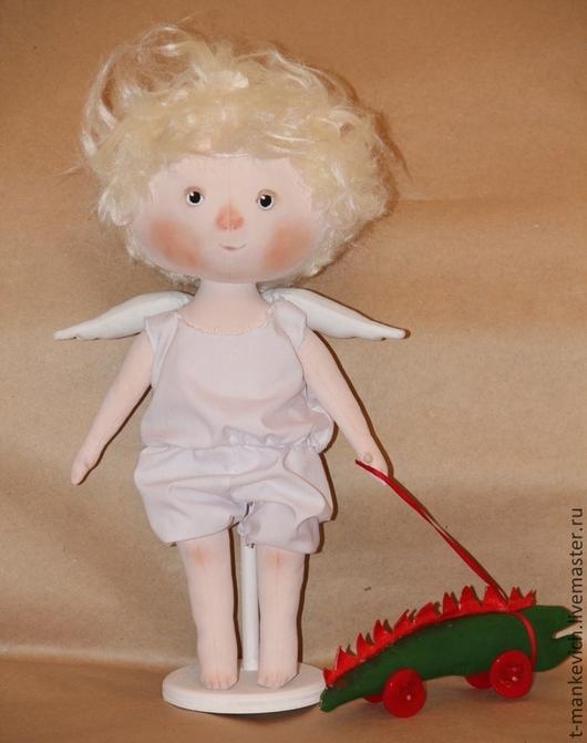Коллекционные куклы ручной работы. Ярмарка Мастеров - ручная работа. Купить Я твой ангел - текстильная кукла  по картине Е. Гапчинской. Handmade.