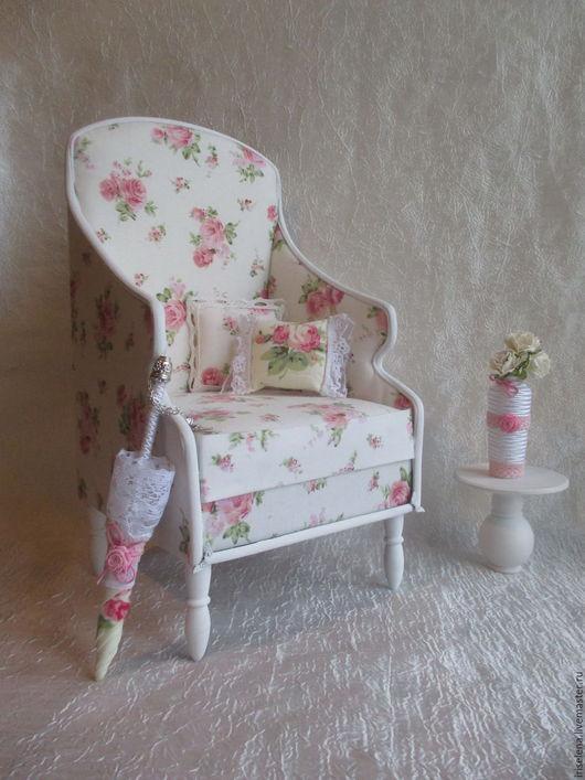 """Кукольный дом ручной работы. Ярмарка Мастеров - ручная работа. Купить Кресло """"Очаровательное"""" для кукол от 35 до 45 см. Handmade."""