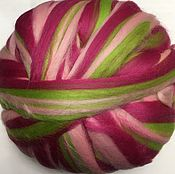 Материалы для творчества handmade. Livemaster - original item 21 MD. Multicolor. Merino Green-pink. Germany.. Handmade.