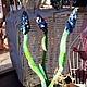 """Статуэтки ручной работы. Ярмарка Мастеров - ручная работа. Купить Цветы весенние """"Мускари"""". Handmade. Сиреневый, подарок на Пасху"""