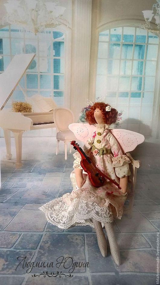 Куклы Тильды ручной работы. Ярмарка Мастеров - ручная работа. Купить Интерьерная кукла Фея музыки Оливия. Handmade. Розовый