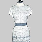 Одежда ручной работы. Ярмарка Мастеров - ручная работа Платье белое со снежинкой. Handmade.