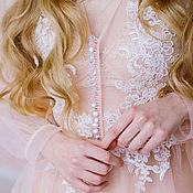 Одежда ручной работы. Ярмарка Мастеров - ручная работа Будуарное Платье Пудровая Роза. Handmade.