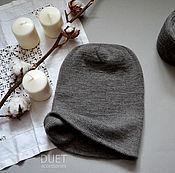 Аксессуары ручной работы. Ярмарка Мастеров - ручная работа Удлиненная шапка-бини из кашемира. Handmade.