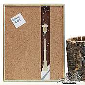 "Картины и панно handmade. Livemaster - original item Cork notes board ""Streetlight"". Handmade."