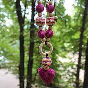Одежда ручной работы. Ярмарка Мастеров - ручная работа Слингокулон с сердечком, ярко-розовый, фуксия. Handmade.