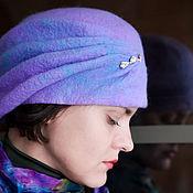 Аксессуары ручной работы. Ярмарка Мастеров - ручная работа Берет валяный Blue lilac. Handmade.
