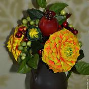 """Цветы и флористика ручной работы. Ярмарка Мастеров - ручная работа """"Жар-птица"""" - интерьерная композиция. Handmade."""