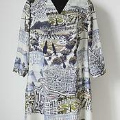 Одежда ручной работы. Ярмарка Мастеров - ручная работа Платье из креповой мягкой шерсти. Handmade.