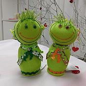 Куклы и игрушки ручной работы. Ярмарка Мастеров - ручная работа Зеленые человечки. Handmade.