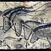 Картины и панно handmade. Livemaster - original item The ancient herd. Chauvet Cave.. Handmade.