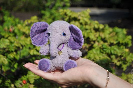 Мишки Тедди ручной работы. Ярмарка Мастеров - ручная работа. Купить Слоник Виолетта. Handmade. Бледно-сиреневый, слоник, пастель