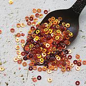 Материалы для творчества handmade. Livemaster - original item Sequins 2,5 mm Scarlett gold glitter 2 gr. Handmade.
