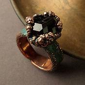 Украшения ручной работы. Ярмарка Мастеров - ручная работа Медное кольцо с гранатом. Handmade.
