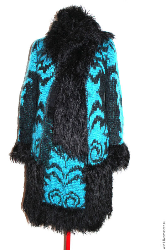 Верхняя одежда ручной работы. Ярмарка Мастеров - ручная работа. Купить Пальто ручной вязки с орнаментом. Handmade. Комбинированный
