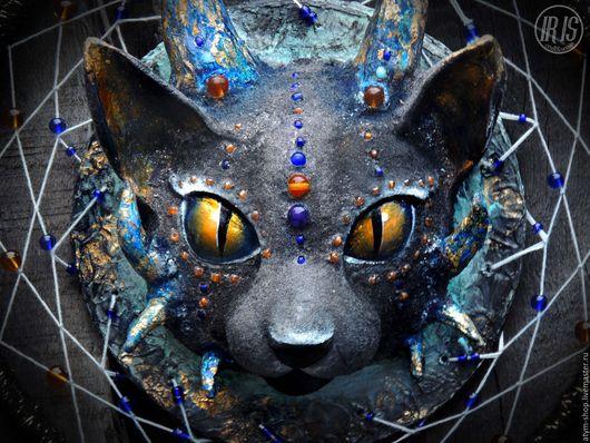 Ловцы снов ручной работы. Ярмарка Мастеров - ручная работа. Купить Ловец снов Космическая кошка, скульптурный ловец снов, ловец снов. Handmade.