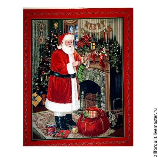 Шитье ручной работы. Ярмарка Мастеров - ручная работа. Купить Купон Санта, 90х110 см.,США. Handmade. Разноцветный