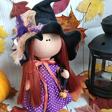 Dolls & toys handmade. Livemaster - original item Doll sorceress (witch) for Halloween in purple. Handmade.