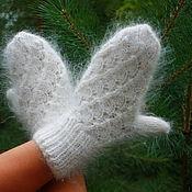 Аксессуары handmade. Livemaster - original item Downy mittens