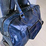 Дорожная сумка ручной работы. Ярмарка Мастеров - ручная работа Багажная сумка  на колесиках из натуральной кожи верблюд. Handmade.
