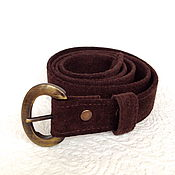 Аксессуары handmade. Livemaster - original item Suede brown belt suede. Handmade.