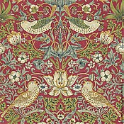 Материалы для творчества ручной работы. Ярмарка Мастеров - ручная работа Английская ткань William Morris с птичками для штор. Handmade.